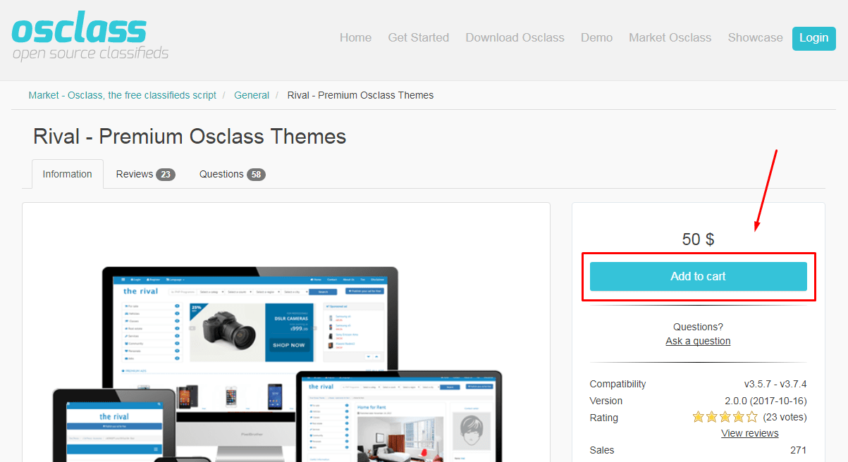 Download Osclass themes
